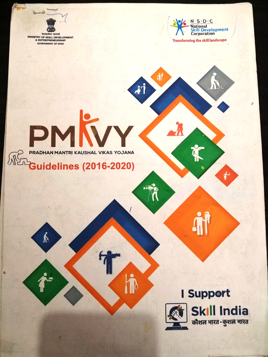Sona Yukti PMKVY Counselling Materials to its Trainees