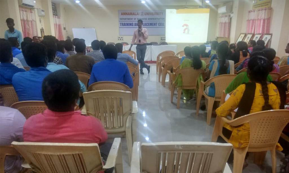 Soft skills and Placement training at Annamalai University, Chidambaram