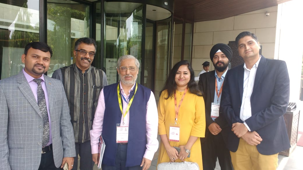 Sona Yukti's leadership team with the AICTE Chairman, Anil Sahasrabudhe, in Delhi