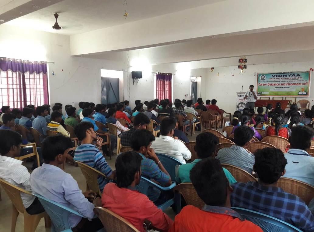 Soft skills training at Vidhyaa Arts & Science College, Idappadi, Salem