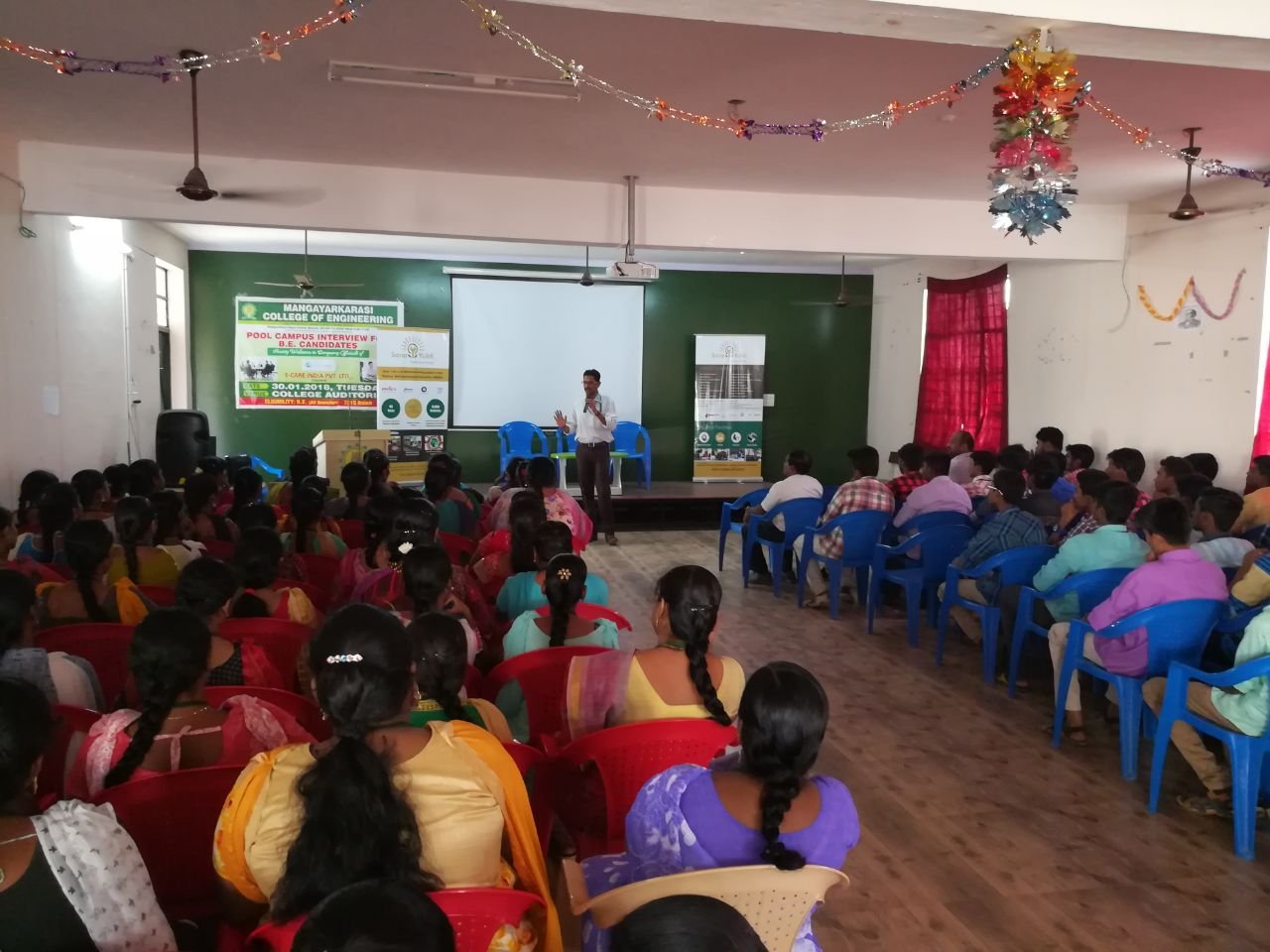Sona Yukti's soft skills training workshop at Mangayarkarasi College of Engineering, Madurai