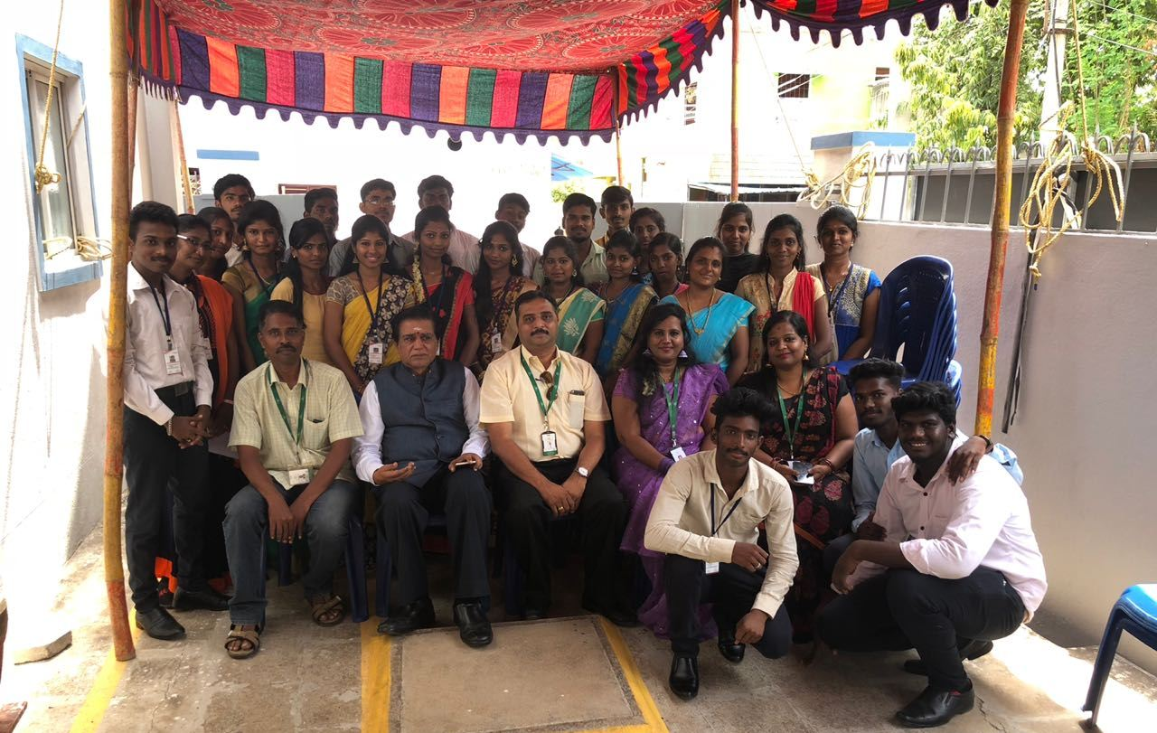 The Chairman of The Sona Group, Mr. C. Valliappa, visited the Sona Yukti-Tech Mahindra Foundation's center in Chennai
