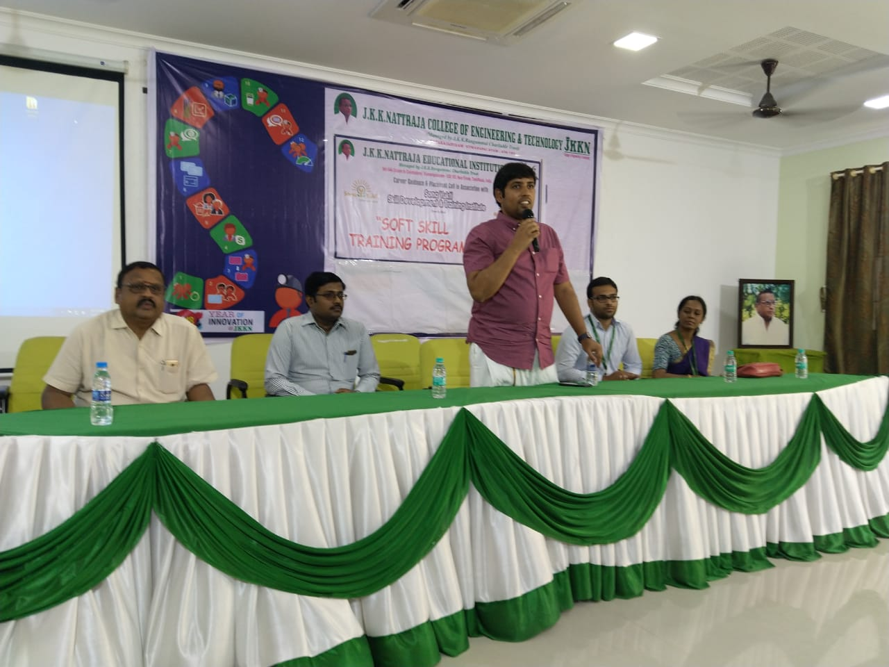Soft skills and placement training at JKKN College of Engineering, Tamil Nadu