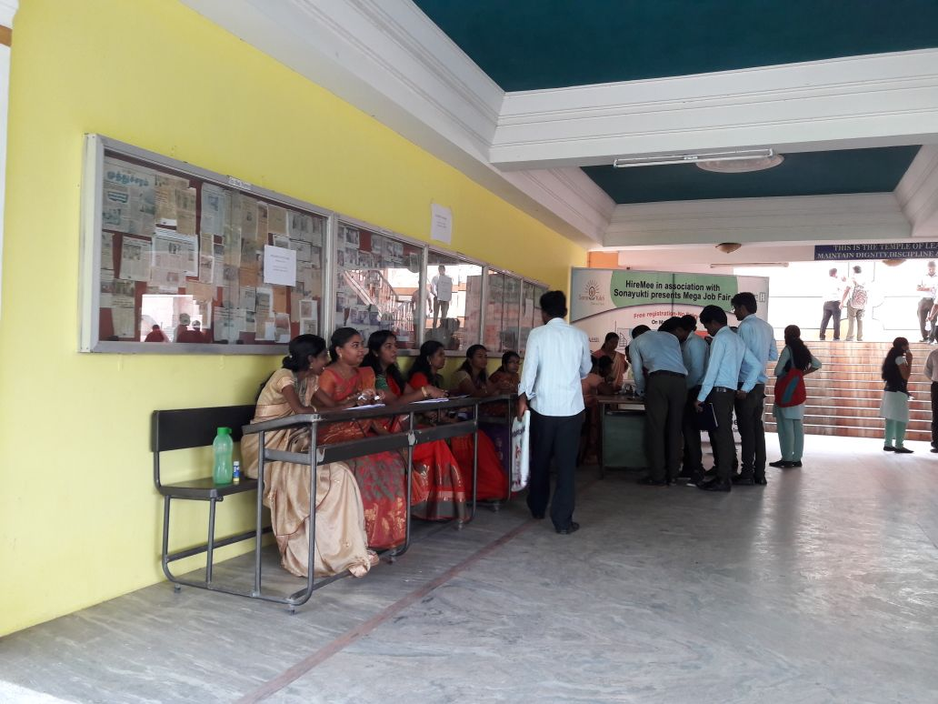 Sona Yukti conducted a mega job fair at Vins Christian College of Engineering, Nagercoil
