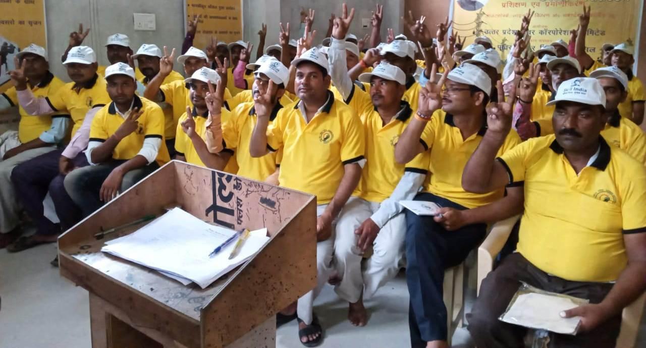 UPPCL-RPL training by Sona Yukti at Sant Kabir Nagar, UP, 7th to 11th August, 2019