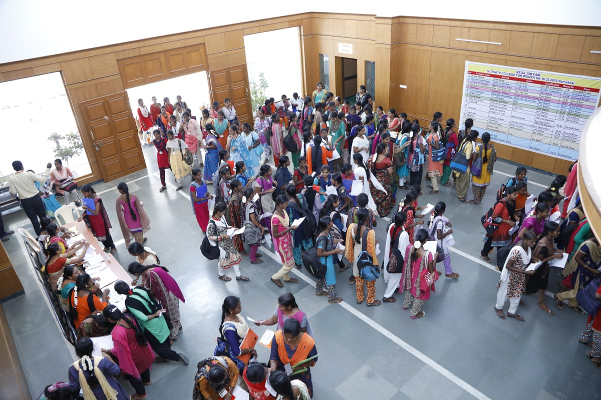 Mega Job fair for Women at Trinity College for Women, Namakkal
