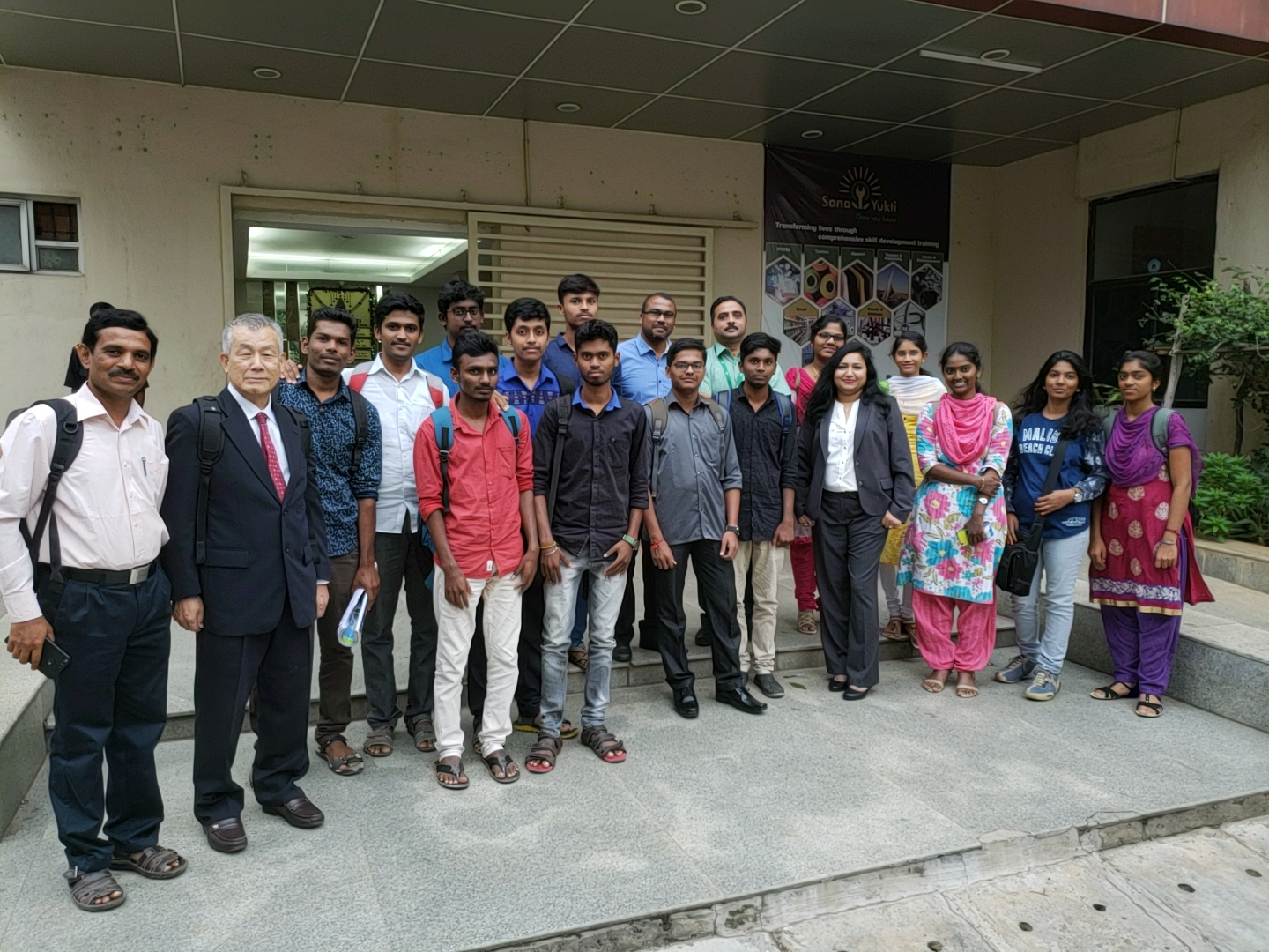 NSDC team visit to SonaYukti's TITP program in Bangalore