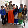 Dress Designing and Stitching by Apparel Trainees of Bareilly Center