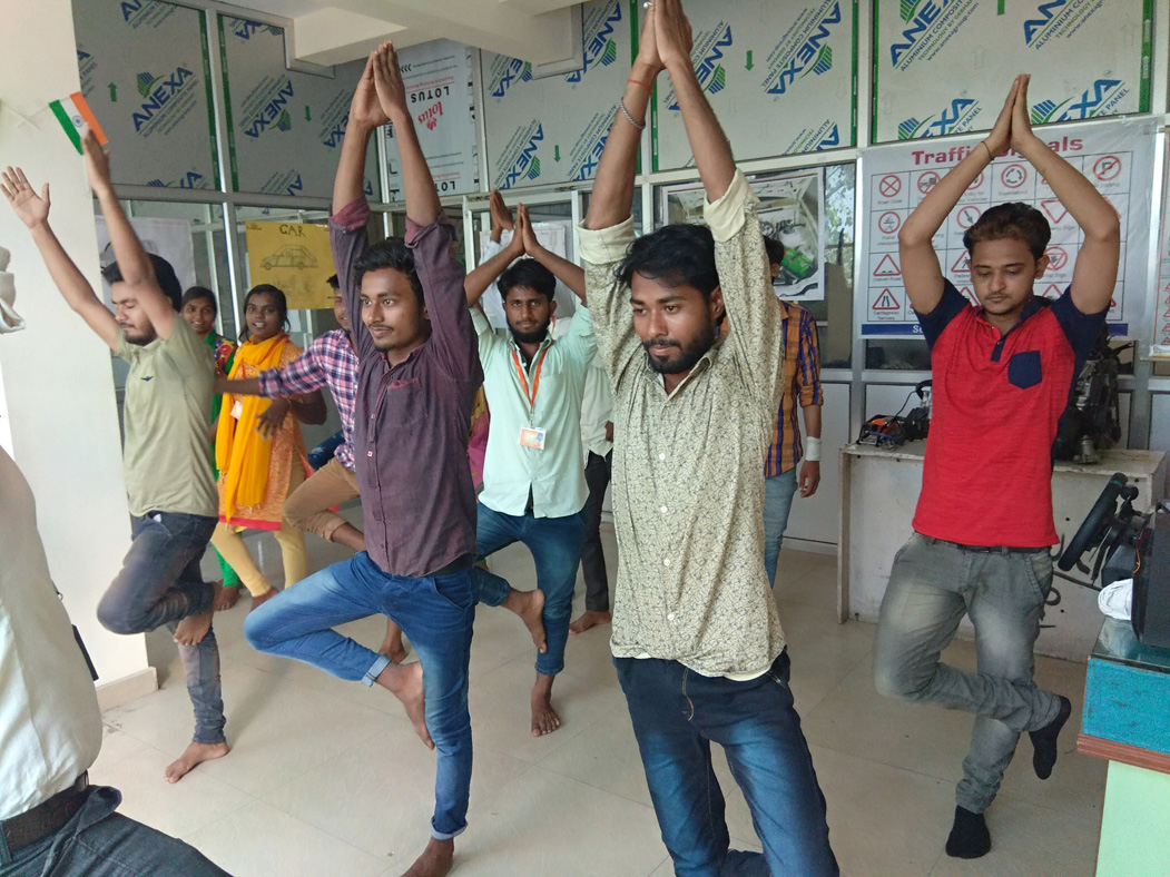 International Day of Yoga celebrations at Sona Yukti's Gorakhpur center