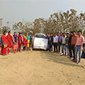 Sona Yukti Gorakhpur automotive training students at their practical exam